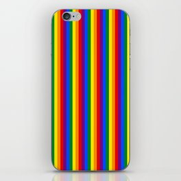 Mini Verticle Gay Pride Rainbow Beach Stripes iPhone Skin