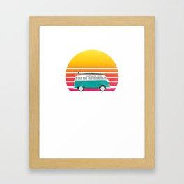 Kill Devil Hills Sunset Surfing Hippie Van Art  Framed Art Print