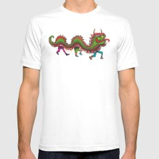 Happy Year of the Dragon  MEDIUM White Mens Fitted Tee
