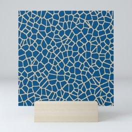 staklo (dark blue with coffee) Mini Art Print