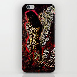 9255-KMA Abstract Fine Art Nude Woman in Red iPhone Skin