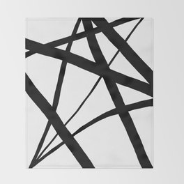 A Harmony of Lines and Shapes Throw Blanket