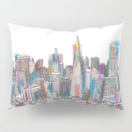 San Francisco Coit view Pillow Sham