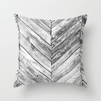 antique Throw Pillows featuring Antique Wood by Patterns and Textures