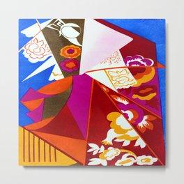 Natalia Goncharova Construction with Flowers Metal Print