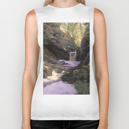 The stream in mountains Biker Tank