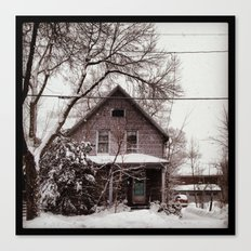 Snowy House Canvas Print
