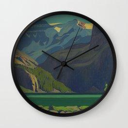 J. E. H. MacDonald, 'Lake O'Hara', 1929, oil on canvas Canadian Landscape Artist Wall Clock