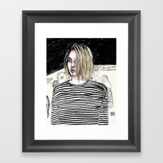 I'm not like them, but i can pretend. -  Kurt c Framed Art Print