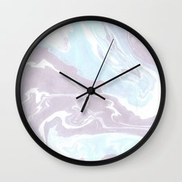 Blue Soft Marble Wall Clock