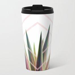 Tropical Desire - Foliage and geometry Metal Travel Mug