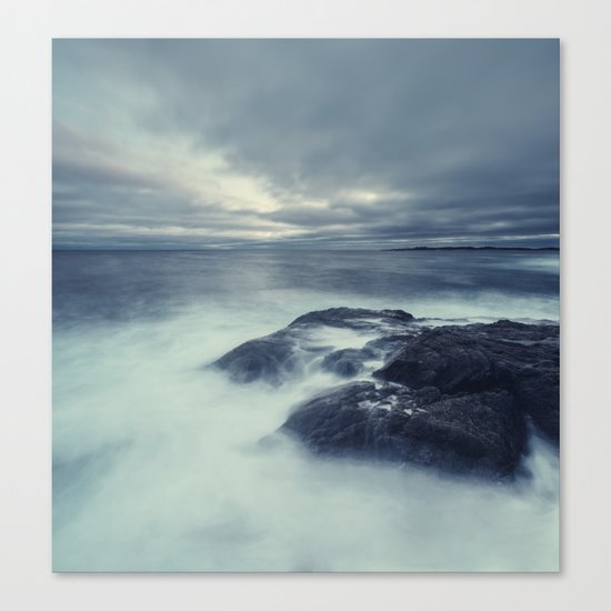 Washed in Atlantic Canvas Print