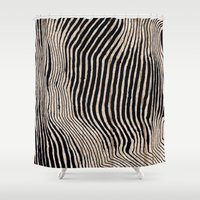 calligraphy Shower Curtains featuring it's waving calligraphy by Anna Grunduls