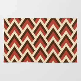 Mid Century Modern Triangles (Tomato Red) Rug