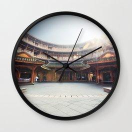 Hakka traditional round house Wall Clock