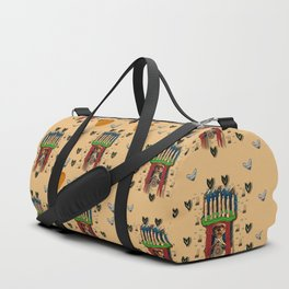 Sankta Lucia with love and candles in the silent night Duffle Bag