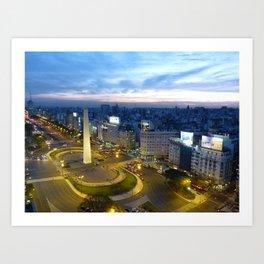 Buenos Aires Obelisco Art Print