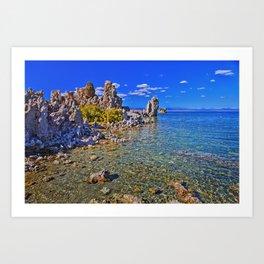 Crystal Clear Mono Lake in the Fall Art Print