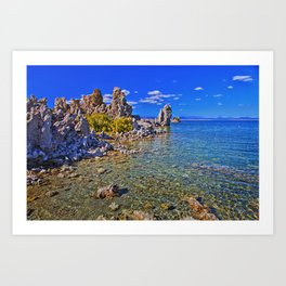 Crystal Clear Mono Lake in the Fall Art Print
