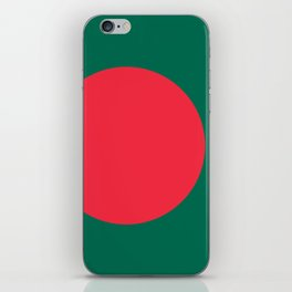 Flag of Bangladesh, Authentic color & scale iPhone Skin