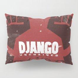 Django Unchained, Quentin Tarantino, minimalist movie poster, Leonardo DiCaprio, spaghetti western Pillow Sham