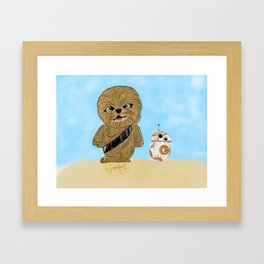 Baby Chewy And BB-8 Framed Art Print