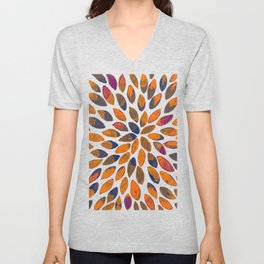 Watercolor brush strokes - rusty effect Unisex V-Neck
