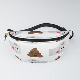 Poop and toilet tissue couple Fanny Pack