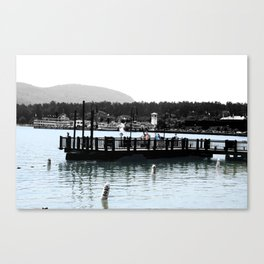 Watching the Steamers Canvas Print