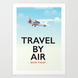 Travel By Air travel poster Art Print