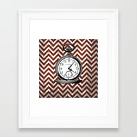 arsenal Framed Art Prints featuring Gentleman's Arsenal - The Watch by Ashley Anonymous
