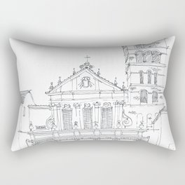 Basilica di Santa Cecilia in Trastevere Rectangular Pillow