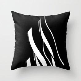 Organic No. 17 Black & White Graphic Art #minimalism #decor #society6 Throw Pillow