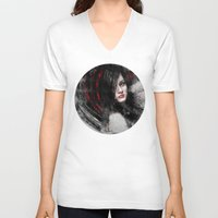 passion V-neck T-shirts featuring Passion by Kanelov