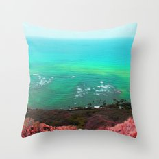 Face of the earth Throw Pillow
