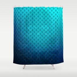Blue Kraken Ocean Demon Pattern Shower Curtain