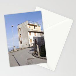 Mountain Village at the Sea of Forza d'Agro in Sicily Stationery Cards