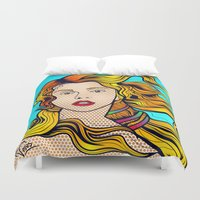 artpop Duvet Covers featuring VENUS ARTPOP by Alli Vanes