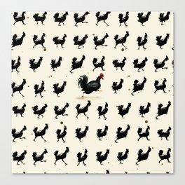 Chickens running Canvas Print