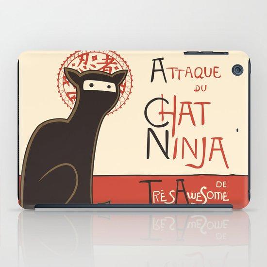 A French Ninja Cat (Le Chat Ninja) iPad Case