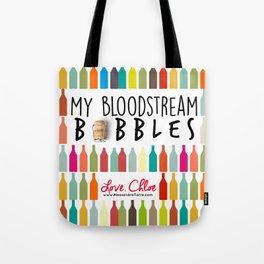 Love Chloe Art: Bubbles in Bloodstream Tote Bag