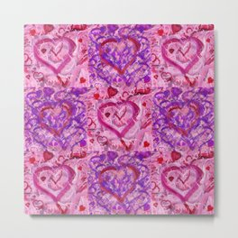 Valentine 17 Checkerboard Metal Print