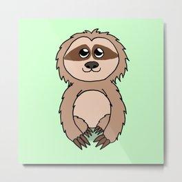 Little sloth Metal Print