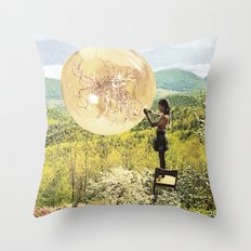 Golden Pockets Throw Pillow