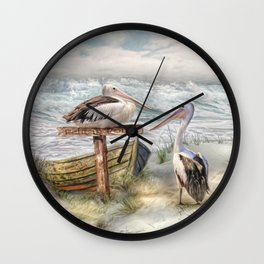 Pelican Point Wall Clock