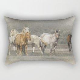 A Band of Horses Rectangular Pillow
