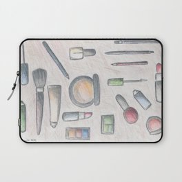 MAKE-UP - pencil and coloured pencil illustration Laptop Sleeve