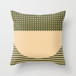 Geometric Spring Abstract - Pantone Warm color Throw Pillow