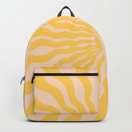 Sun Rays Yellow Backpack