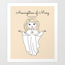 Assumption of Mary - Mary on Heaven - Our Lady of the Navigators Art Print